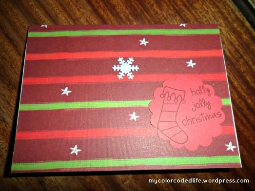 holly jolly xmas card