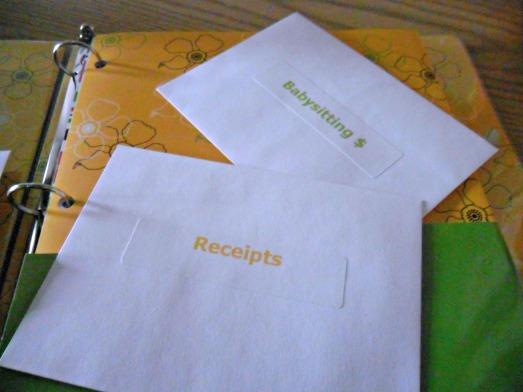 receipts envelope
