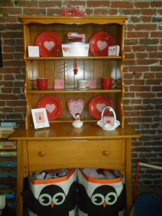 Valentine Holiday Cabinet