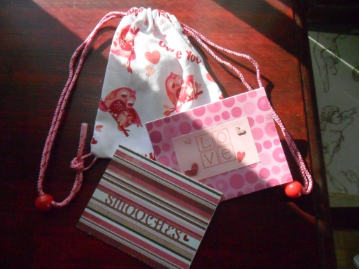 V - day bags and cards