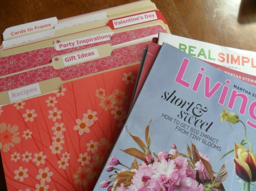 organize the ideas and inspirations you get from magazines