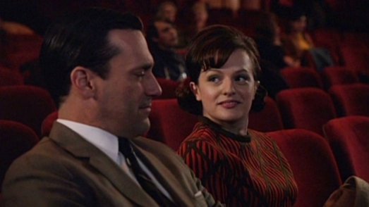 Peggy and Don at the movies