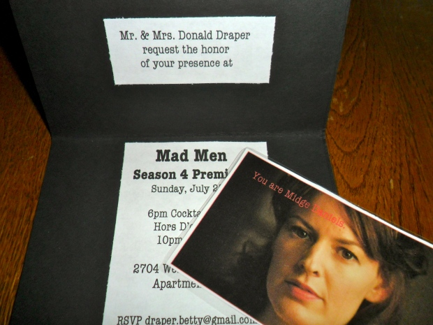 Mad Men Party Invitations