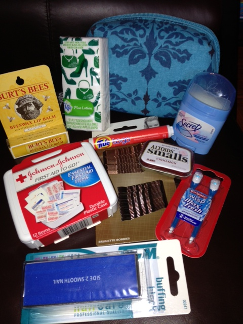contents of a Bridal Survival Kit