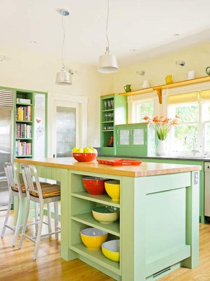 Colorful Kitchen Cabinets Better Homes and Gardens