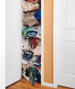 Before Closet shot from Real Simple