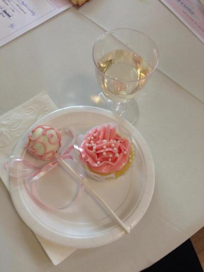 Bridal Shower Dessert and Wine