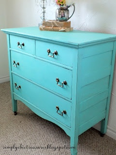 Turquoise Dresser from Simply Chic Treasures