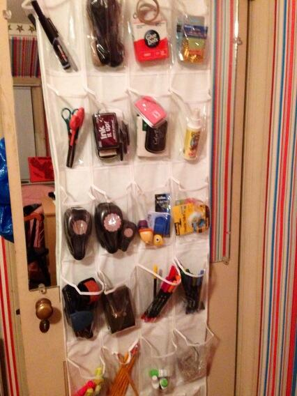 Over the Door Organizer for Craft Supplies