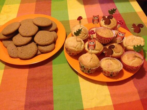 Fall Treats - Corn Muffins and Pumpkin Spice Cookies