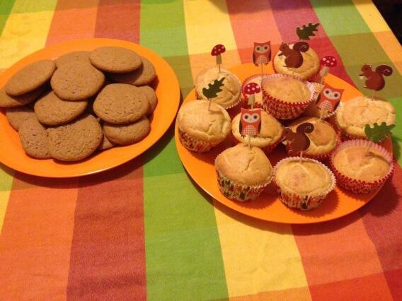 Fall Treats - Corn Muffins and Pumpkin Spice Cookies