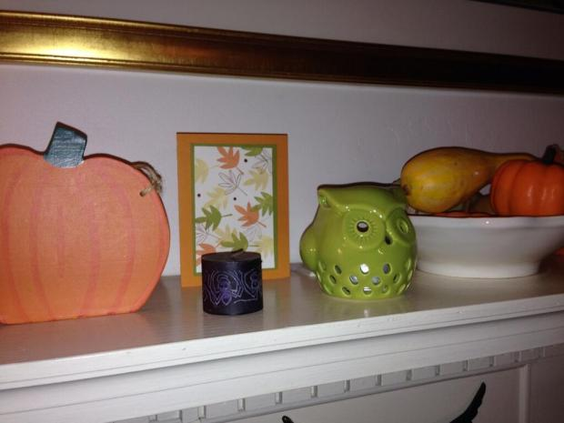 Our Halloween Mantel 2