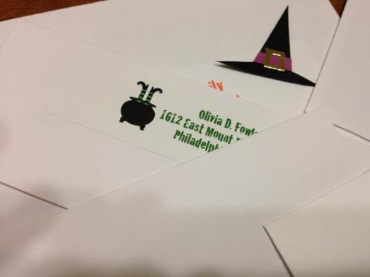 Halloween return address labels