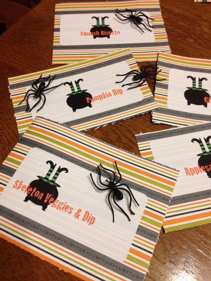 Halloween Menu Cards