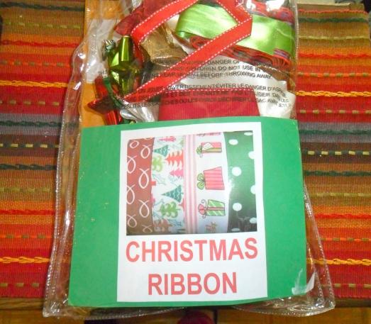 Christmas Ribbon Storage
