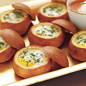 Baked Eggs in a Bread Bowl from ALL YOU Magazine