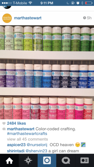 Martha Stewart Instagram - Color Coded Crafting