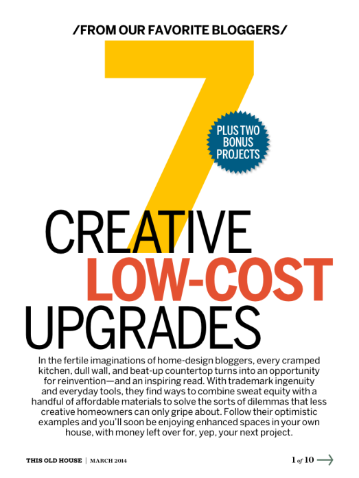 7 Creative Low-Cost Upgrades from This Old House magazine