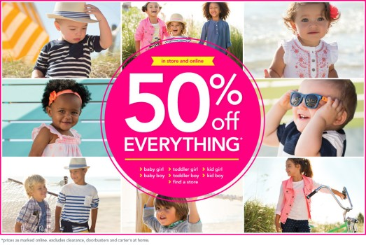cCarter's 50% off sale