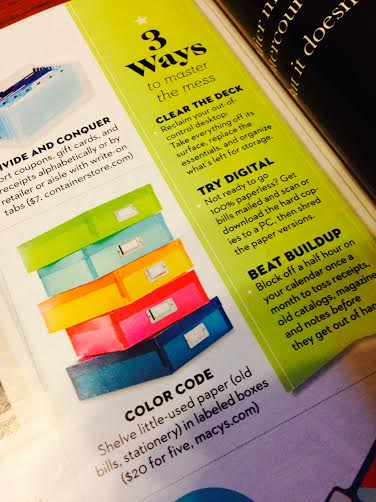 Color Code your Paper Clutter from Good HOusekeeping
