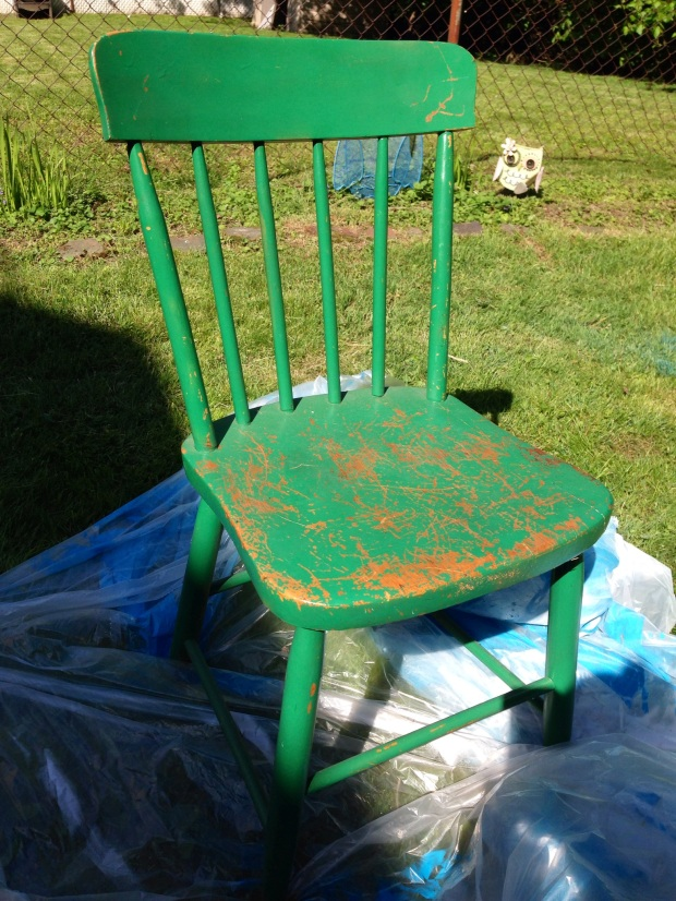 wooden chair before