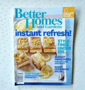 BH&G Aug 2014 Issue