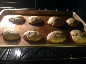 Banana Cookies Baking