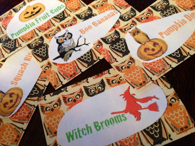 halloween menus cards