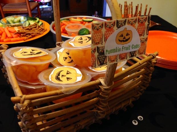 pumpkin fruit cups