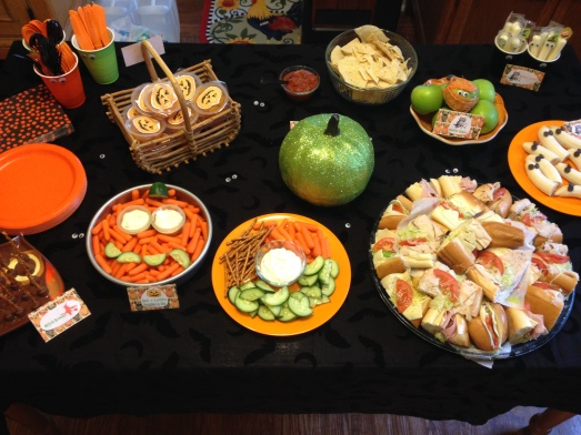 Halloween Party table spread