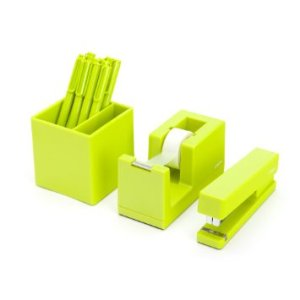 lime green desk supplies by poppin