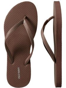 Old Navy Flip Flops_brown